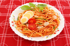 Espagueti delicioso Imagen de archivo