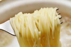 Espagueti en la fork. imagen de archivo libre de regalías