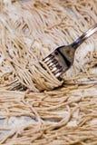 Espagueti hecho en casa Fotos de archivo libres de regalías