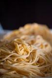 Espagueti hecho a mano Fotografía de archivo