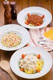 Espagueti italiano de las pastas Foto de archivo