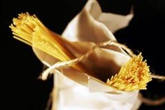 Espagueti pila de discos Foto de archivo libre de regalías