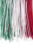 Espagueti tricolor Fotos de archivo
