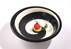 Espagueti y tomate Imagenes de archivo