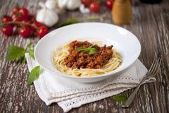 Espaguetis boloñés Imagen de archivo libre de regalías