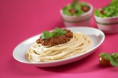 Espaguetis boloñés de Italia imágenes de archivo libres de regalías
