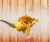 Espaguetis boloñeses Fotos de archivo libres de regalías