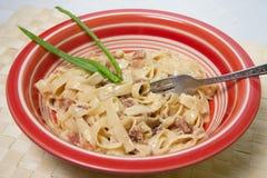 Espaguetis Carbonara Fotografía de archivo