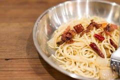 Espaguetis Carbonara fotos de archivo