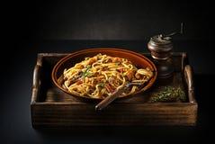 Espaguetis con la salsa boloñesa Imágenes de archivo libres de regalías
