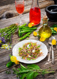 Espaguetis con la verdura Fotografía de archivo libre de regalías