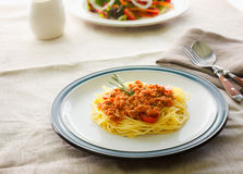 Espaguetis de las pastas Foto de archivo