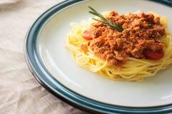 Espaguetis de las pastas Imagen de archivo libre de regalías