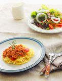 Espaguetis de las pastas Fotografía de archivo libre de regalías