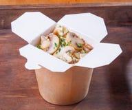 Espaguetis del sitio del puré del Udon buenos Fotografía de archivo libre de regalías