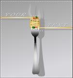Espaguetis deliciosos en una bifurcación Fotografía de archivo libre de regalías