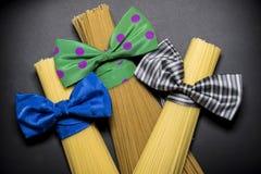 Espaguetis, estilo del italiano de las pastas Fotografía de archivo