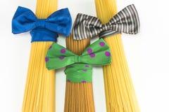 Espaguetis, estilo del italiano de las pastas Foto de archivo libre de regalías