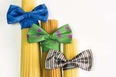 Espaguetis, estilo del italiano de las pastas Foto de archivo