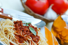 Espaguetis frescos Imagen de archivo libre de regalías