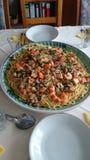 Espaguetis frutti di mare Imagen de archivo libre de regalías