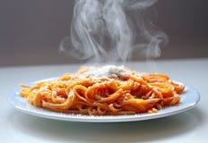 Espaguetis italianos. Imagen de archivo