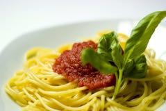 Espaguetis italianos foto de archivo libre de regalías