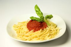 Espaguetis italianos Fotografía de archivo libre de regalías