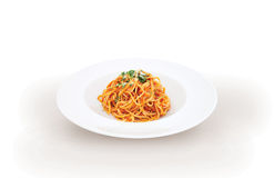 Espaguetis italianos boloñés de las pastas Fotos de archivo