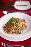 Espaguetis italianos Fotos de archivo