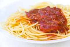 Espaguetis italianos tradicionales foto de archivo