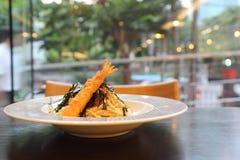 Espaguetis japoneses de Mentaiko de las pastas Fotos de archivo