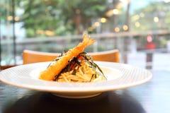 Espaguetis japoneses de Mentaiko de las pastas Foto de archivo