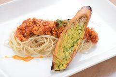 Espaguetis Marinara imágenes de archivo libres de regalías
