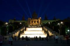 Espai d'Art Gallery. In the night, Barcelona, Spain Stock Image