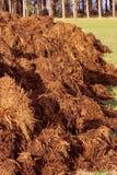Estrume para o cultivo orgânico imagem de stock