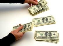 Espalhando a riqueza Imagem de Stock