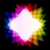 Espalhe o triângulo colorido Fotos de Stock