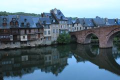 Espalion, Aveyron ( France ) Stock Photos