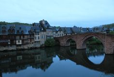 Espalion, Aveyron ( France ) Royalty Free Stock Photos