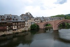 Espalion, France Photo libre de droits