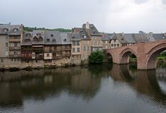 Espalion, France Stock Photography