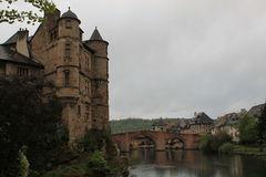Espalion, l'Aveyron (Frances) Photo libre de droits