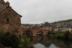 Espalion, l'Aveyron (Frances) Photo stock