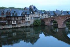 Espalion, l'Aveyron (Frances) Photos stock