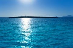 Espalmador en île de formentera avec l'îlot de Gastabi Photo stock