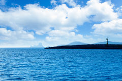 Espalmador en île de formentera avec l'îlot de Gastabi Photo libre de droits
