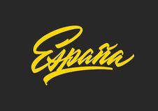 Espana brush lettering royalty free stock photo