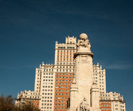 Espana building and statue Royalty Free Stock Image