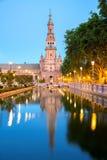 Espana Plaza Sevilla Spain Arkivbilder